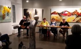 Le groupe du Val-de-Travers à la galerie Bleu de Chine le 8 novembre 2019